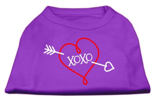 Xoxo Screen Print Shirt Purple Med (12)