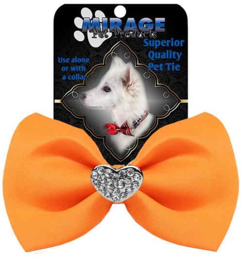Crystal Heart Widget Pet Bowtie Orange