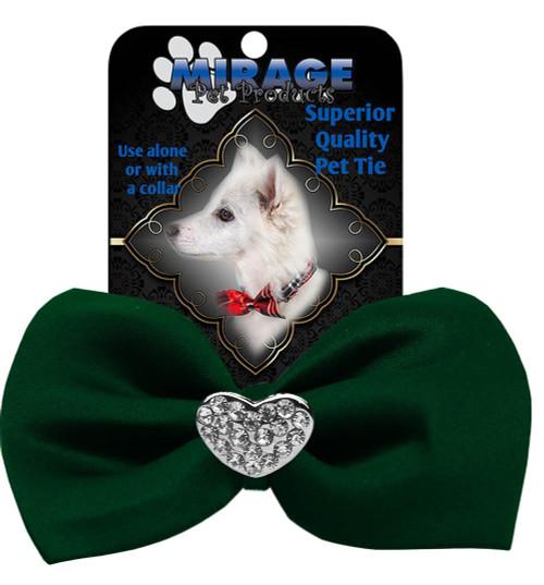 Crystal Heart Widget Pet Bowtie Green