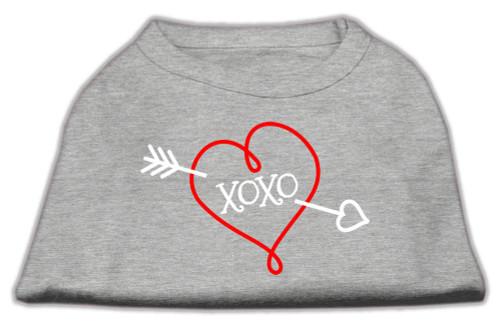 Xoxo Screen Print Shirt Grey Med (12)
