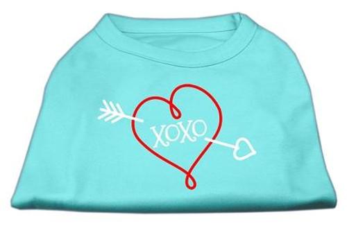 Xoxo Screen Print Shirt Aqua Med (12)