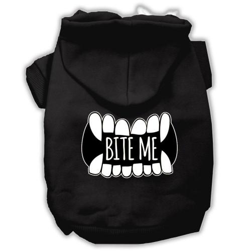 Bite Me Screenprint Dog Hoodie Black S (10)