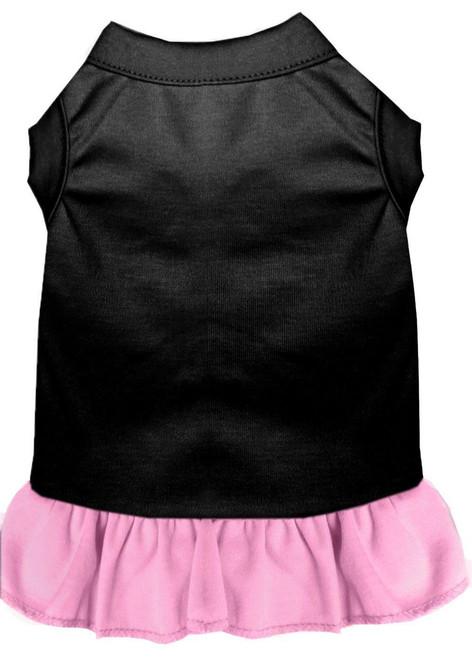 Plain Dress Black With Light Pink Xxl (18)