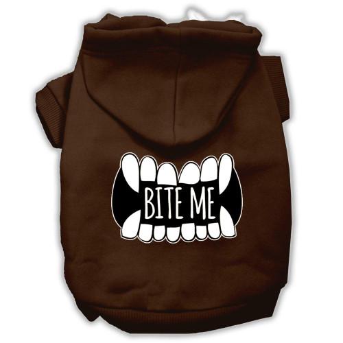 Bite Me Screenprint Dog Hoodie Brown S (10)