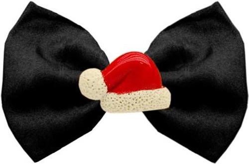 Santa Hat Chipper Black Pet Bow Tie