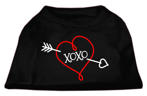 Xoxo Screen Print Shirt Black Med (12)