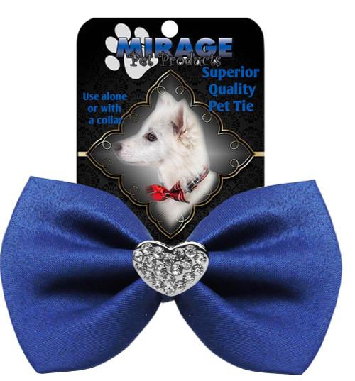Crystal Heart Widget Pet Bowtie Blue