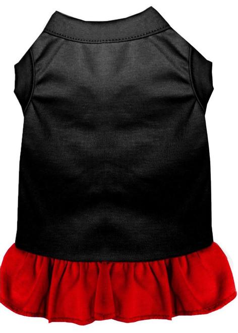 Plain Dress Black With Red Xxl (18)