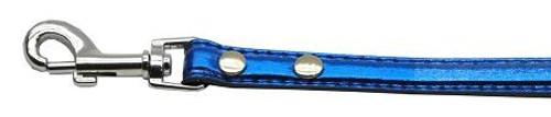 "3/8"" (10mm) Metallic Two Tier Collar Blue 3/4"" Leash - 10-02 34LdBlM"
