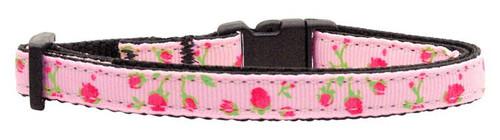Roses Nylon Ribbon Collar Light Pink Cat Safety - 125-020 CTLPK