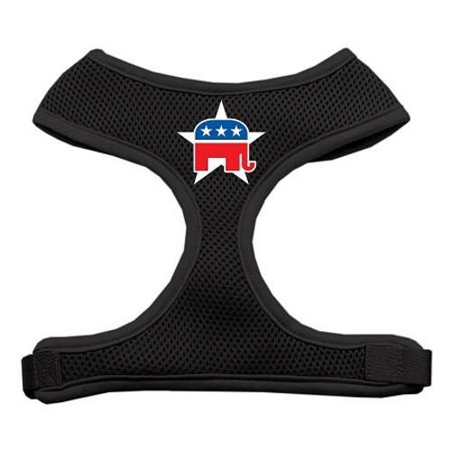 Republican Screen Print Soft Mesh Harness Black Medium