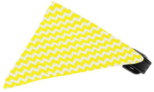 Yellow Chevron Bandana Pet Collar Black Size 14