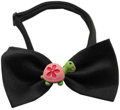 Turtle Chipper Black Bow Tie