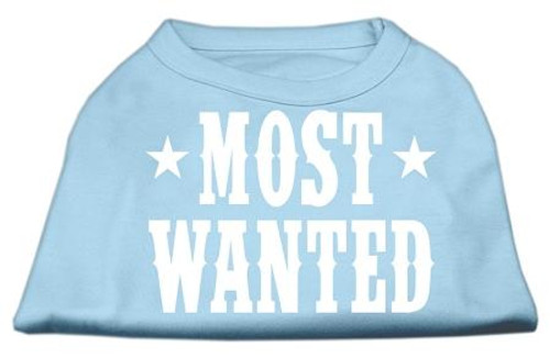 Most Wanted Screen Print Shirt Baby Blue Lg (14)