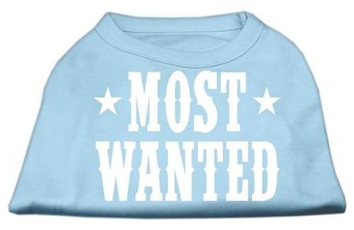 Most Wanted Screen Print Shirt Baby Blue Lg (14)