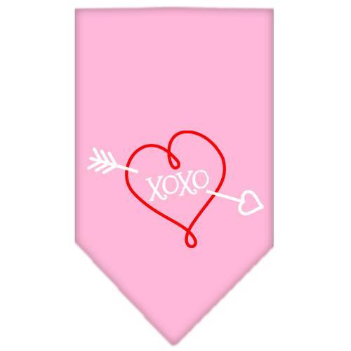 Xoxo Screen Print Bandana Light Pink Small