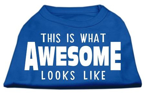This Is What Awesome Looks Like Dog Shirt Blue Med (12)