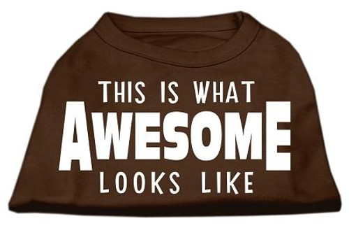 This Is What Awesome Looks Like Dog Shirt Brown Med (12)