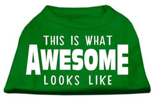 This Is What Awesome Looks Like Dog Shirt Emerald Green Med (12)