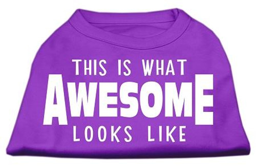 This Is What Awesome Looks Like Dog Shirt Purple Med (12)