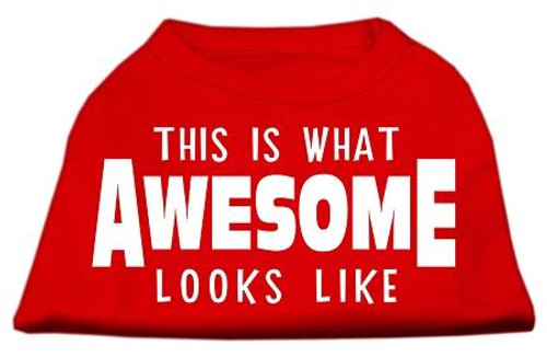 This Is What Awesome Looks Like Dog Shirt Red Med (12)