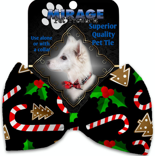 Candy Cane Chaos Pet Bow Tie