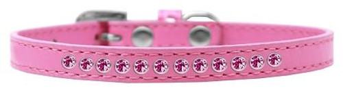 Bright Pink Crystal Size 10 Bright Pink Puppy Collar