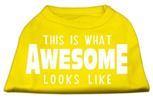 This Is What Awesome Looks Like Dog Shirt Yellow Med (12)
