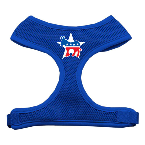 Democrat Screen Print Soft Mesh Harness Blue Small