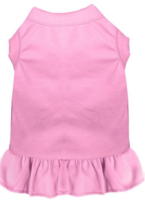 Plain Pet Dress Light Pink Lg (14)