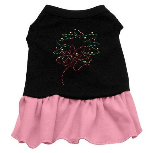 Wreath Rhinestone Dress Black With Pink Lg (14)