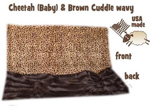 Brown Cheetah Big Baby Blanket