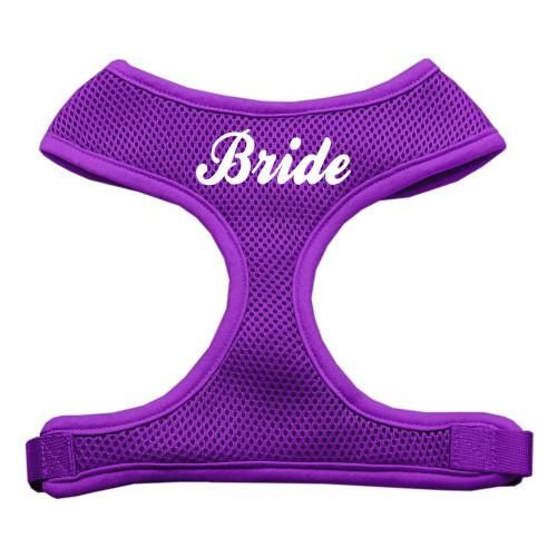 Bride Screen Print Soft Mesh Harness Purple Medium