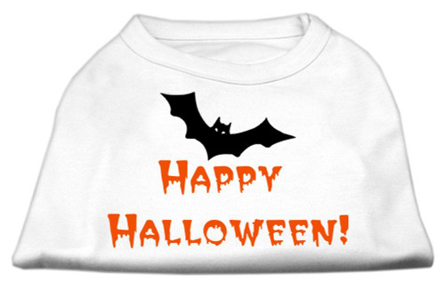 Happy Halloween Screen Print Shirts White Xxxl (20) - 51-13-04 XXXLWT