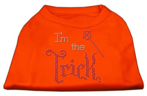 I'm The Trick Rhinestone Dog Shirt Orange Lg (14)