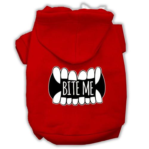 Bite Me Screenprint Dog Hoodie Red S (10)