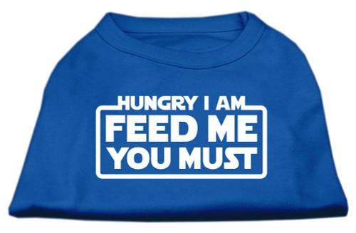 Hungry I Am Screen Print Shirt Blue Med (12)