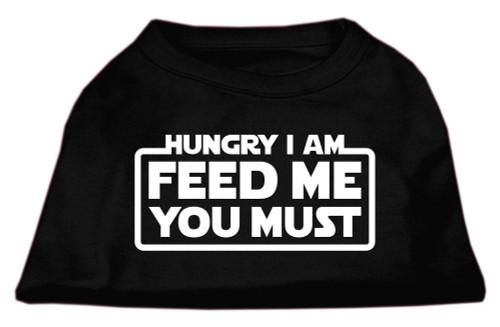 Hungry I Am Screen Print Shirt Black Med (12)