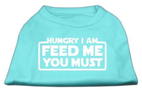Hungry I Am Screen Print Shirt Aqua Med (12)