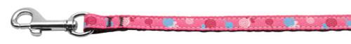Lollipops Nylon Ribbon Leash Bright Pink 3/8 Wide 6ft Long