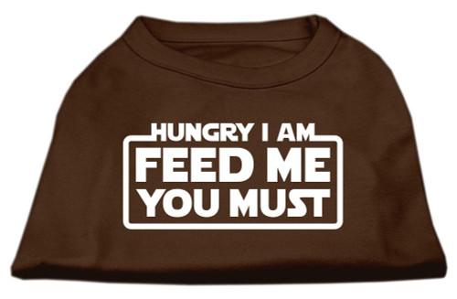 Hungry I Am Screen Print Shirt Brown Med (12)