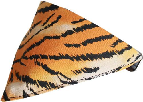 Tiger Print Bandana Pet Collar  Black Size 14