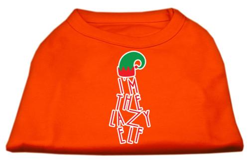 Lazy Elf Screen Print Pet Shirt Orange Med (12)