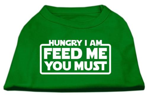 Hungry I Am Screen Print Shirt Emerald Green Med (12)