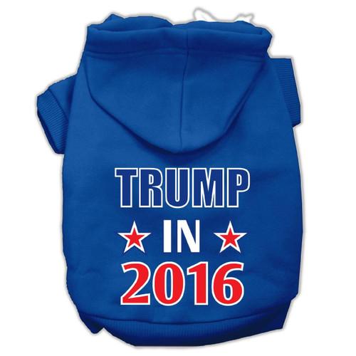 Trump In 2016 Election Screenprint Pet Hoodies Blue Size Xl (16)