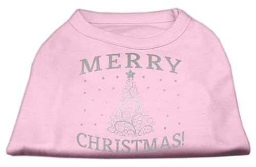 Shimmer Christmas Tree Pet Shirt Light Pink Sm (10)