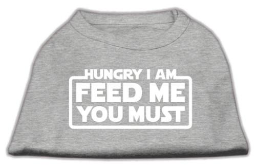 Hungry I Am Screen Print Shirt Grey Med (12)