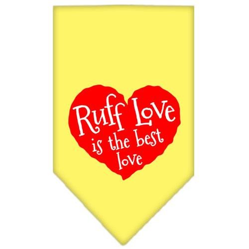 Ruff Love Screen Print Bandana Yellow Small
