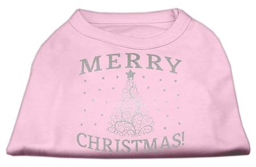 Shimmer Christmas Tree Pet Shirt Light Pink Xl (16)