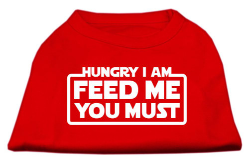 Hungry I Am Screen Print Shirt Red Med (12)